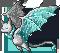 Gemeater bat aquamarine adult