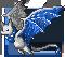 Gemeater bat sapphire adult