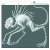 Silver chupacabra adult