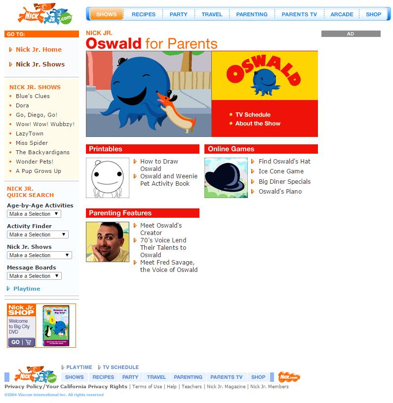 Image - Oswald NickJr.com - Show Page.png | Oswald Wiki | FANDOM ...