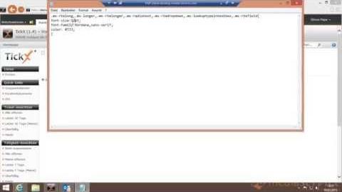 TickX für Sharepoint - V1.4 (Styles für Richtext Editoren mittels CSS anpassen)