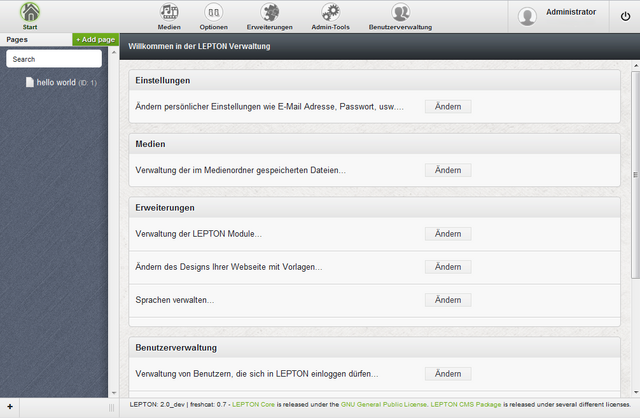Datei:LEPTON CMS Backend 2.x.png