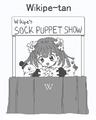 96px-Wikipe-tan sockpuppet show