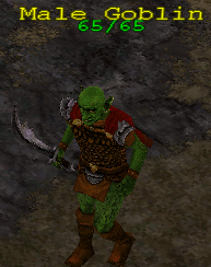 Monster goblin armed