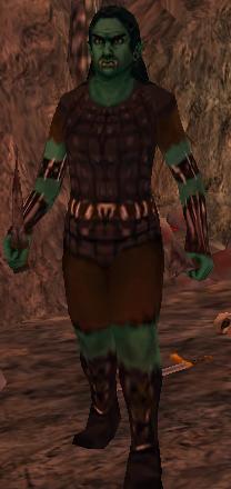 Monster armed female orc
