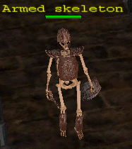 Monster skeleton armed