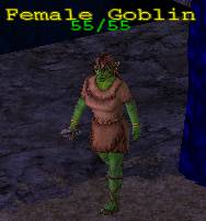 Monster goblin armed female