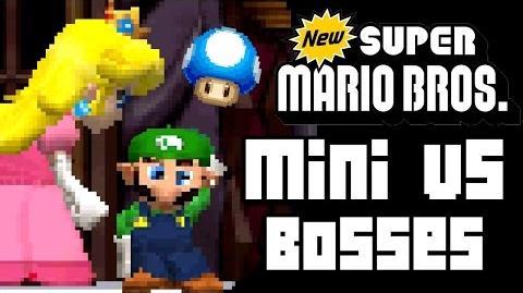 New Super Mario Bros ALL BOSSES with MINI MUSHROOMS (DS)