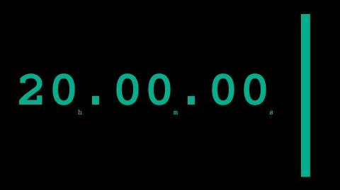 Silent 20 hours countdown timer