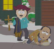 Randy Abuses a Native American