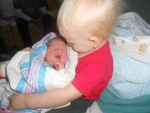 Phil and newborn Seth