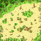 Minimap Desert Beach Field 3 - Statue of Anubis