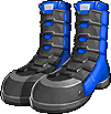 Fashion Blue-Black Steel Boots