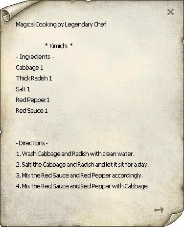 Kimchi 1 Recipe