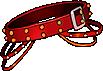 Fashion Red Studded Belt