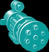 Gun Super Perforator 300 Cyan
