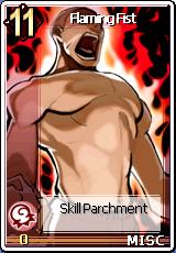 Card Flaming Fist Skill Card Big