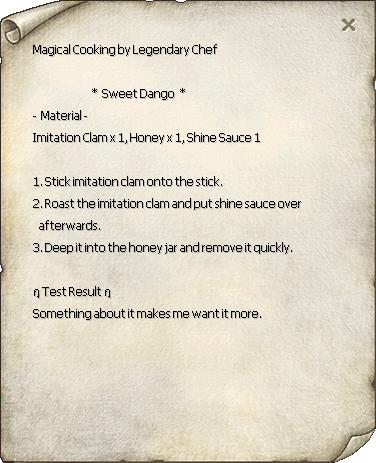 Sweet Dango Recipe