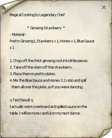 Ginseng Strawberry Recipe