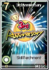 Card 3rd Anniversary Skill Card Big