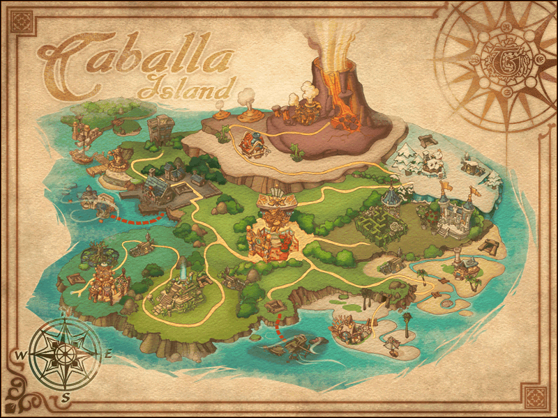 Map Caballa Island Big