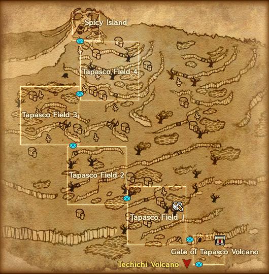 Map Tapasco Volcano Detail