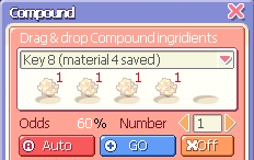Compounding Key 8 material 4 saved