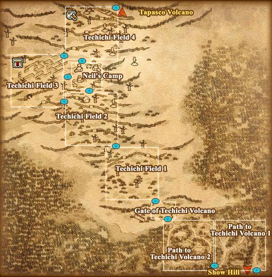 Map Techichi Volcano Detail