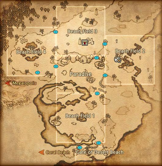 Map Desert Beach Detail