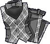 Fashion Gray Checkered Suit