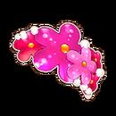 Pink Flower Barettes