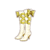 Gold Belt Boots