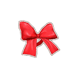 Red Bow Ribbon Bangle