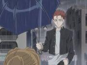 Ritsu with umbrella