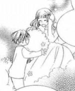 Anne-Sophie playing with little tamaki