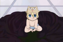 Umehito as a baby