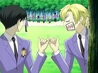 Kyoya and Tamaki pinky