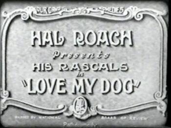 Love My Dog 1927