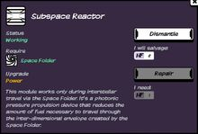 Subspace Reactor