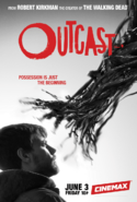 Outcast season 1 poster - Kyle faces a demon