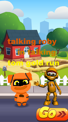 Talking roby in talking tom gold run