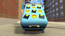 MC's suitcase