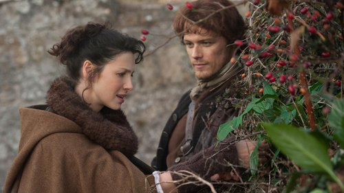 Jamie y Claire iglesia negra