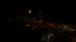 A bloody fountain seen at the end of the level
