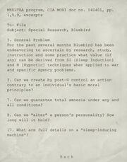MKULTRA Program Excerpt