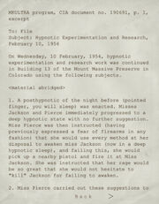MKULTRA CIA Hypnotic Homicide Page 1