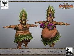Elven Priestess CG Model