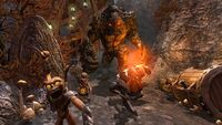 Chased by a Lava Giant and a Dwarven Warrior