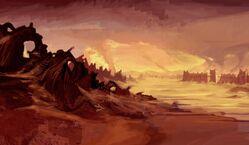 Ruborian Desert Concept Artwork