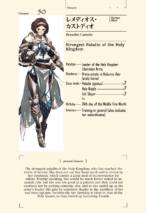 Remedios character sheet EN